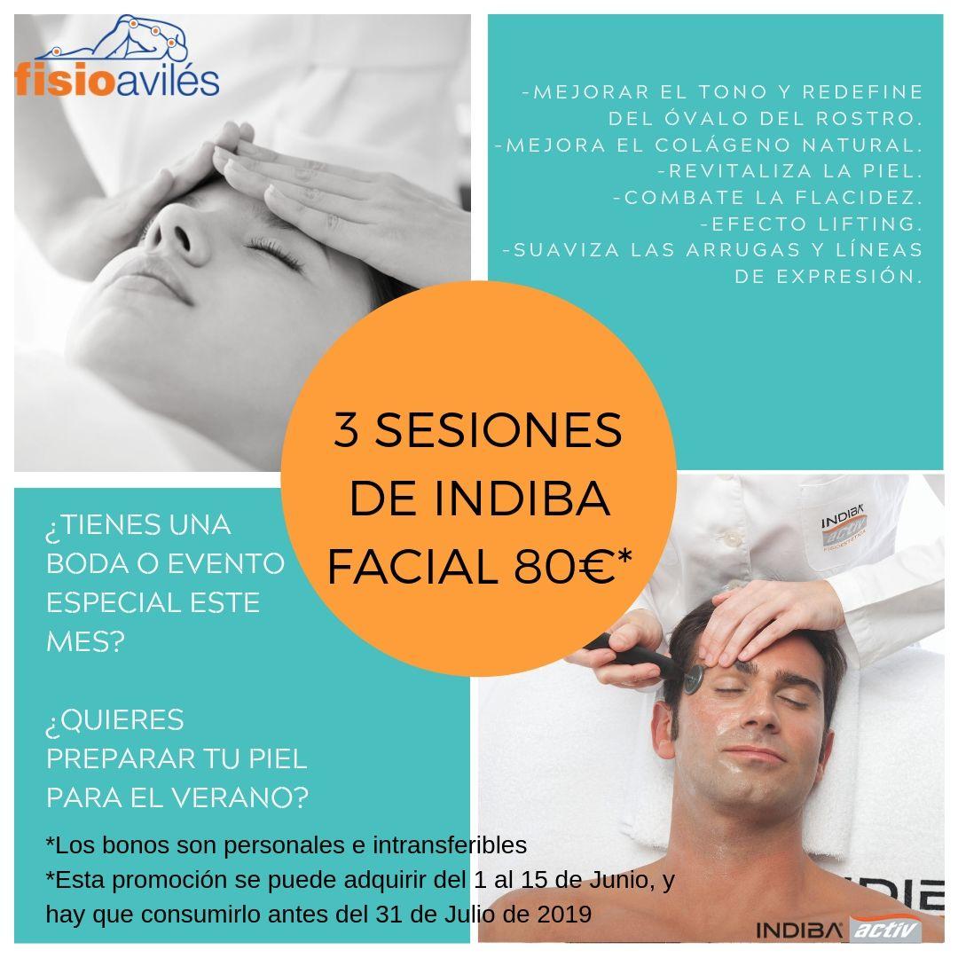 Promoción Indiba facial fisioaviles